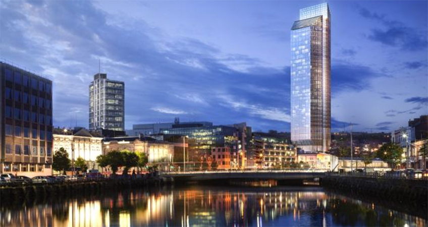 At a proposed 140 meters, Custom House Tower would be higher than any other building in Ireland.