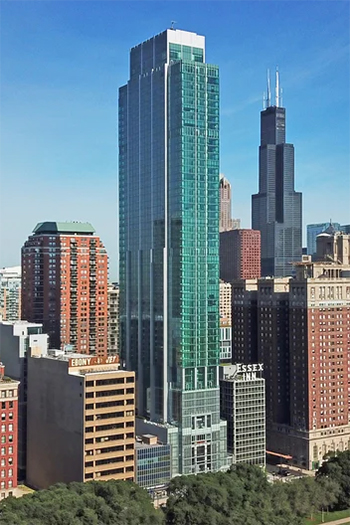 Essex on the Park, at 808 S. Michigan Ave. Costar Group.