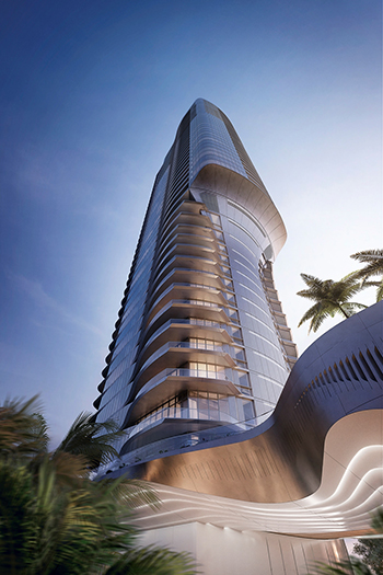 Una Residences, a new luxury residential tower with sweeping views of Biscayne Bay, is slated to be complete in 2023.