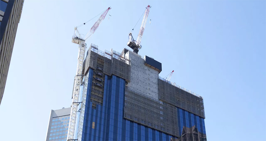 Melbourne CBD Tower Tops Out