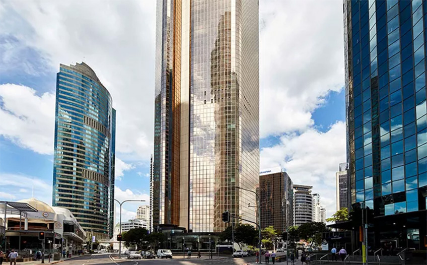 Brisbane CBD Gold-Hued Tower Listed
