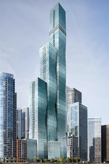 The tower's first residents are scheduled to move into the 101-story building in December 2020.