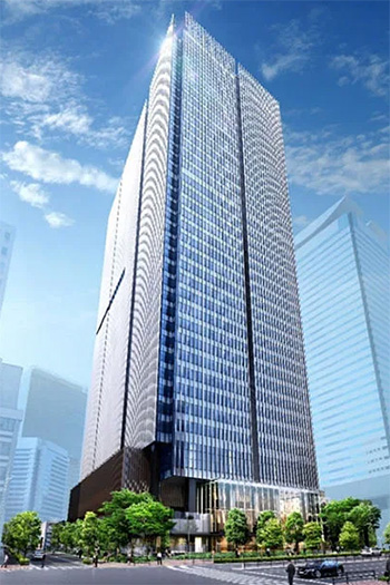The office tower will have a total floor area of 180,000 square meters.