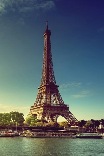 The 324-meter Eiffel Tower was built by engineer Gustave Eiffel for the 1889 World Fair in Paris.