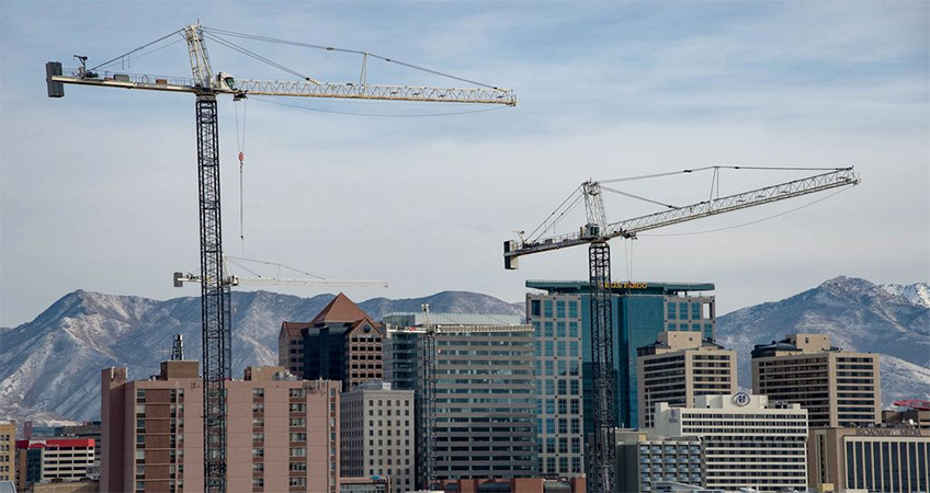 (Francisco Kjolseth | The Salt Lake Tribune) Salt Lake City's skyline will change in 2021 with several new skyscrapers and midsize towers going up across Utah's capital city.
