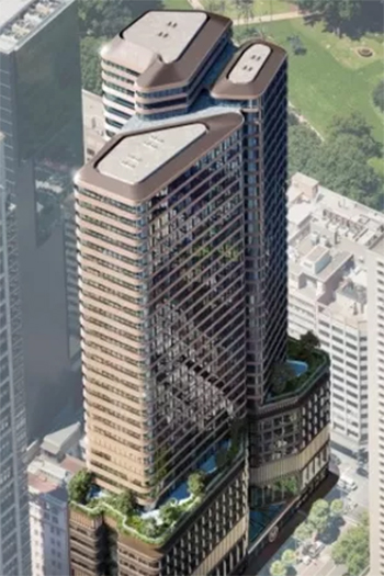 Permits have been approved for the new over-station office tower.