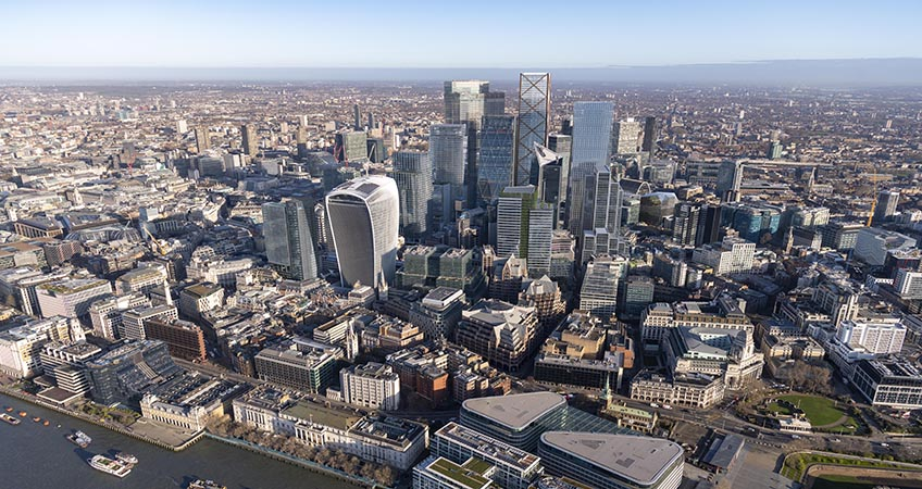 The new image represents all major developments which have been granted approval at the Square Mile by the planning committee over the past 12 months. Image credit: Didier Madoc-Jones of GMJ / City of London Corporation