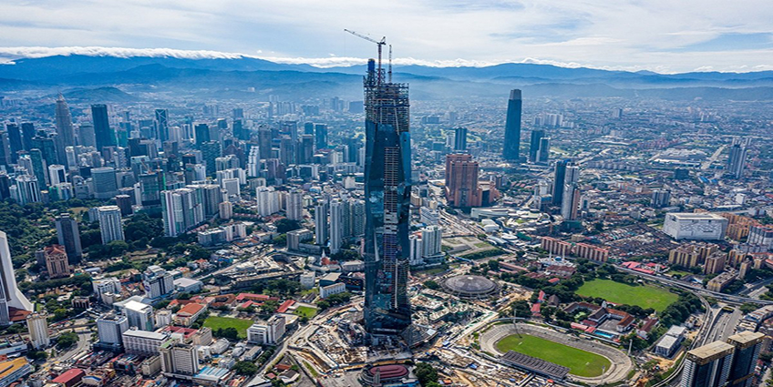 Merdeka 118 aims to reach a full height of 644 meters. Image credit: The Edge Markets