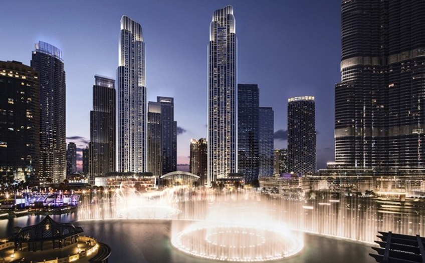 Il Primo Tower in Dubai has topped out at 77 stories. Image credit: Emaar Properties