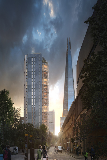 EDGE London Bridge will have perimeter openings at each floor to promote natural ventilation. Image credit: Pillbrow & Partners