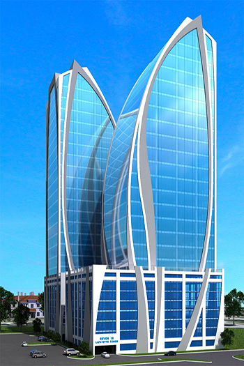 Seven16 Lafayette Tower would feature twin 20-story towers. Image credit:  The Gleason Group