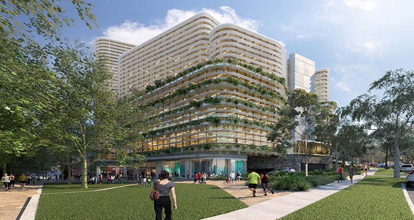 St Leonards Commons in Sydney will include three cross-laminated timber buildings rising between eight and 18 stories. Image credit: Arrow Capital Partners