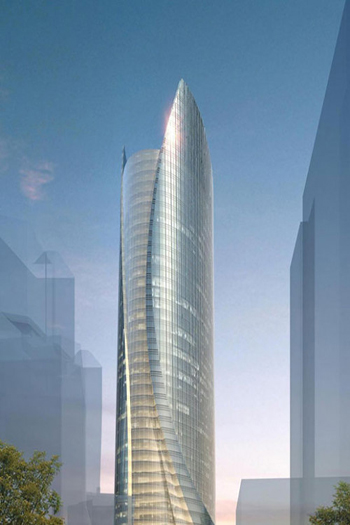 One Congress in Boston will deliver one million square feet of office space. Image credit: Pelli Clarke Pelli
