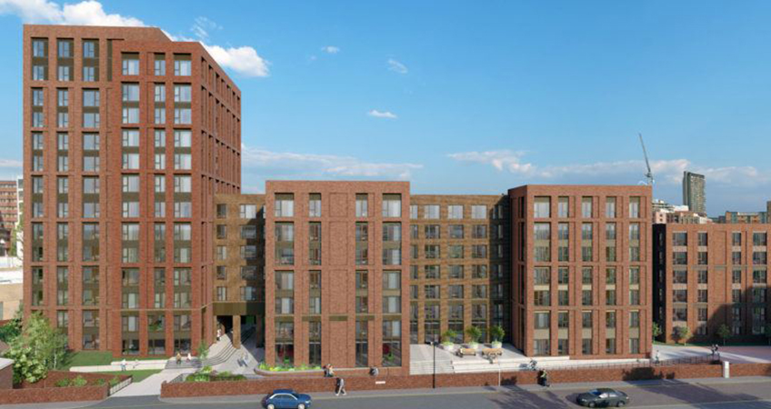PLATFORM_Sheffield will deliver 335 apartments to Sheffield upon completion. Image credit: Winvic Construction