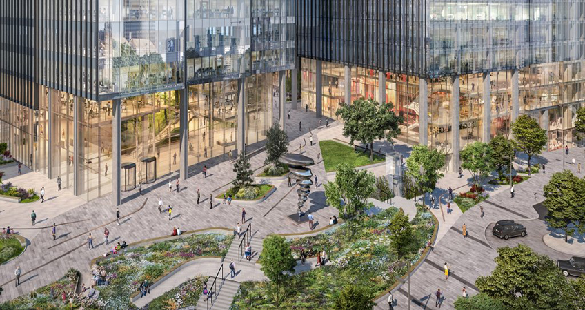 One Station Hill will be the first office building delivered in the One Station Hill masterplan. Image credit: Callison RTKL