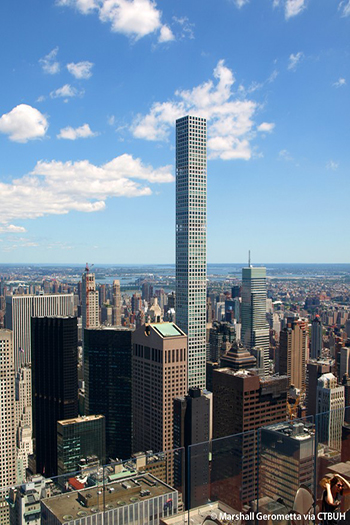 In New York City, units at 432 Park Avenue have sold for tens of millions in US dollars. Image credit: Marshall Gerometta via CTBUH