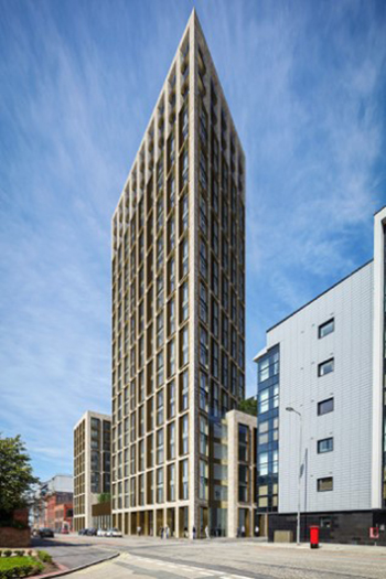 Pall Mall Press will rise to 22 stories in Liverpool. Image credit: Falconer Chester Hall
