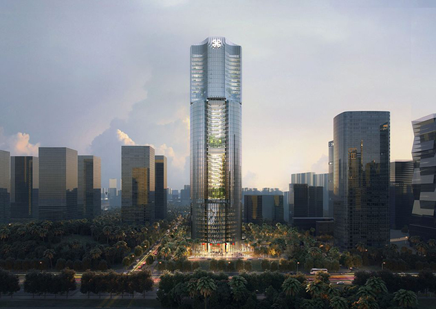In Xiamen, the Xiamen International Bank plans to reach 210 meters. Image credit: gmp