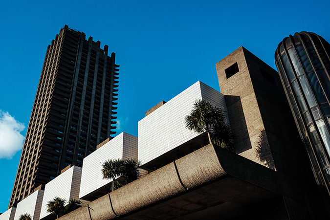 The Barbican Centre was originally designed by architects Chamberlin, Powell, and Bon. Image credit: Photo by Robert Bye on Unsplash