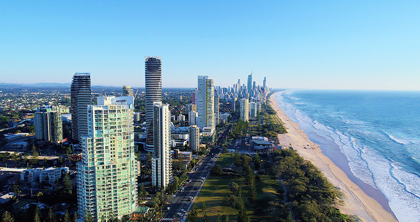 In Gold Coast's Broadbeach Island, The Dorsett Gold Coast and The Star Residences tower has topped out at 53 stories. Image credit: Photo by Robert Lynch on Unsplash